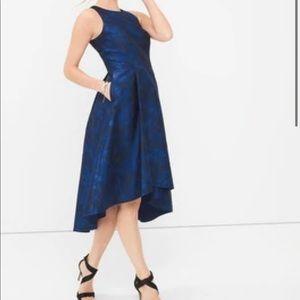 White House Black Market Jacquard dress w/ pockets
